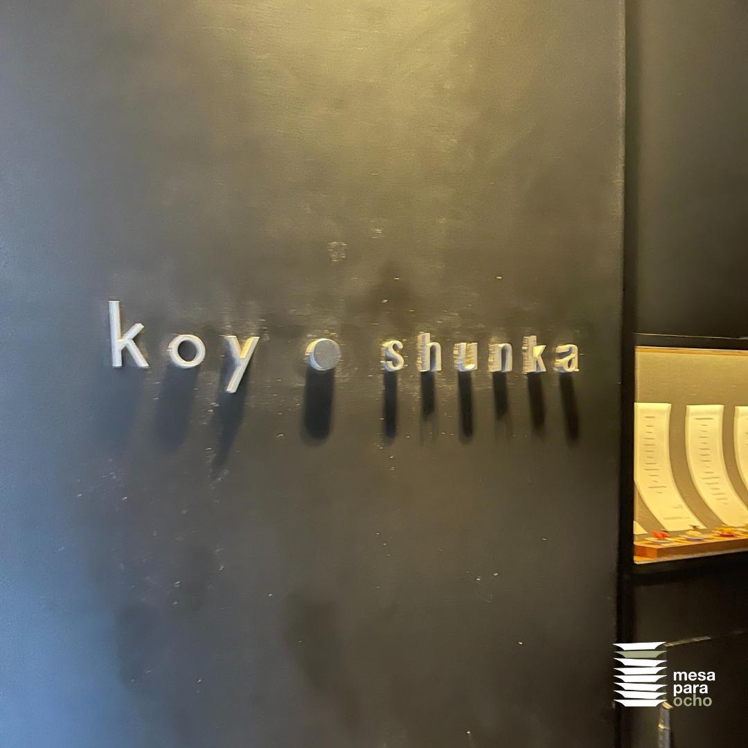 Koy Shunka. Experiencia gastronómica de estrella Michelin